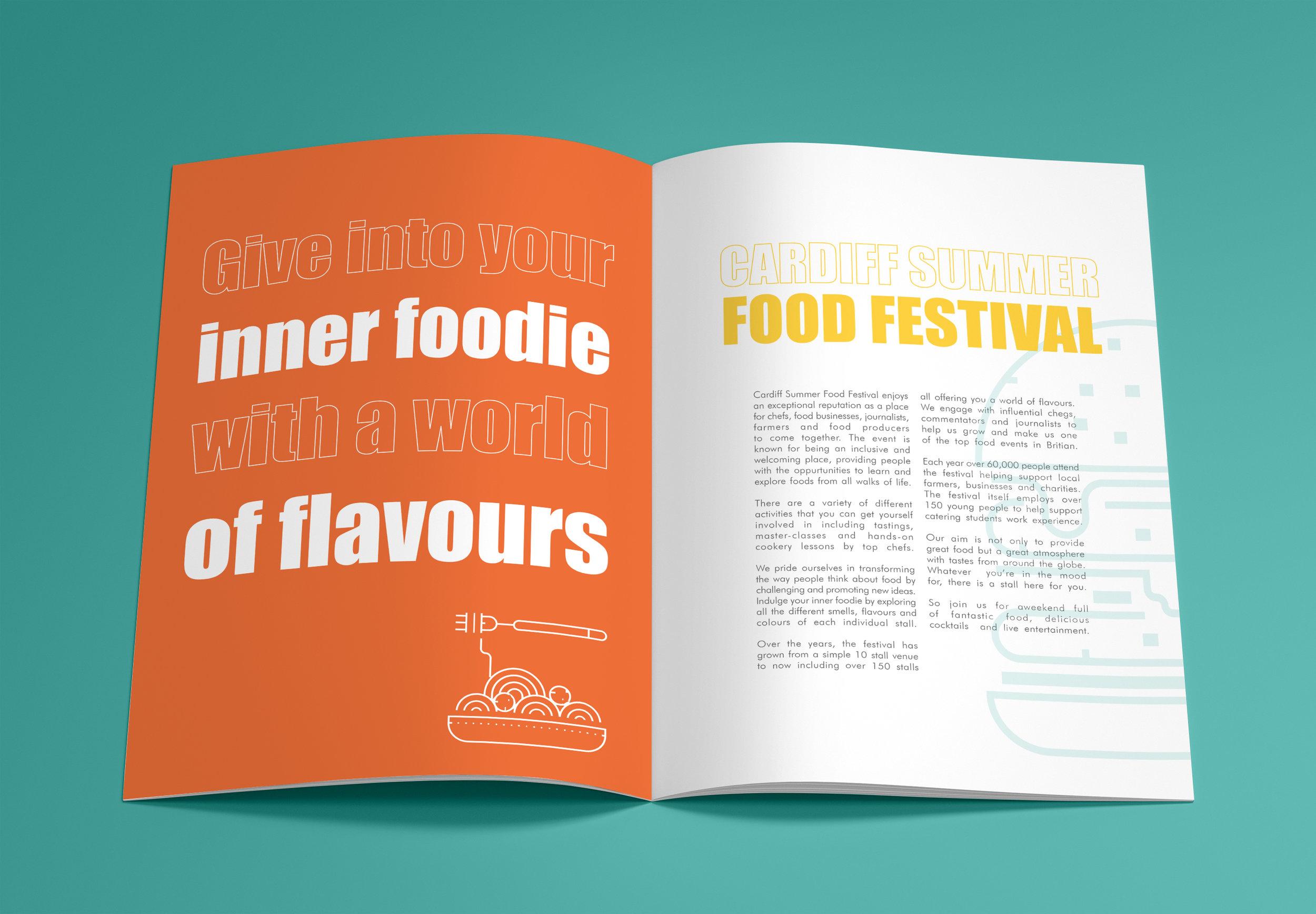 information leaflet food festival