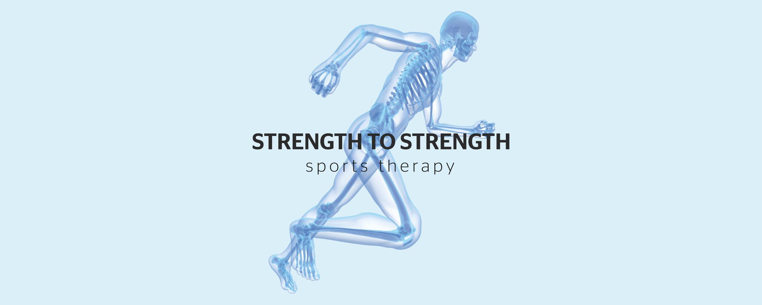 strength to strength logo design sports
