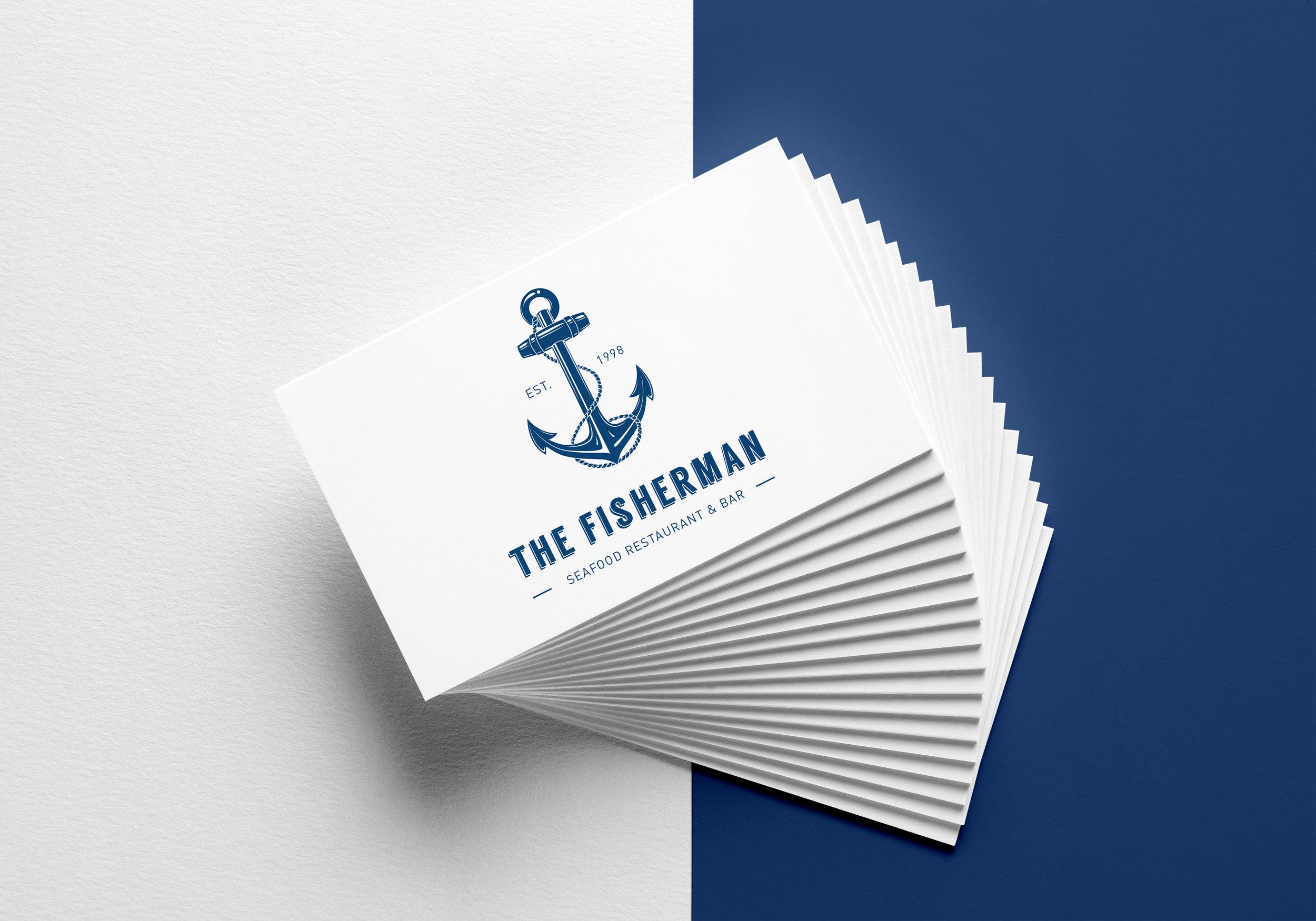 business card nautical theme
