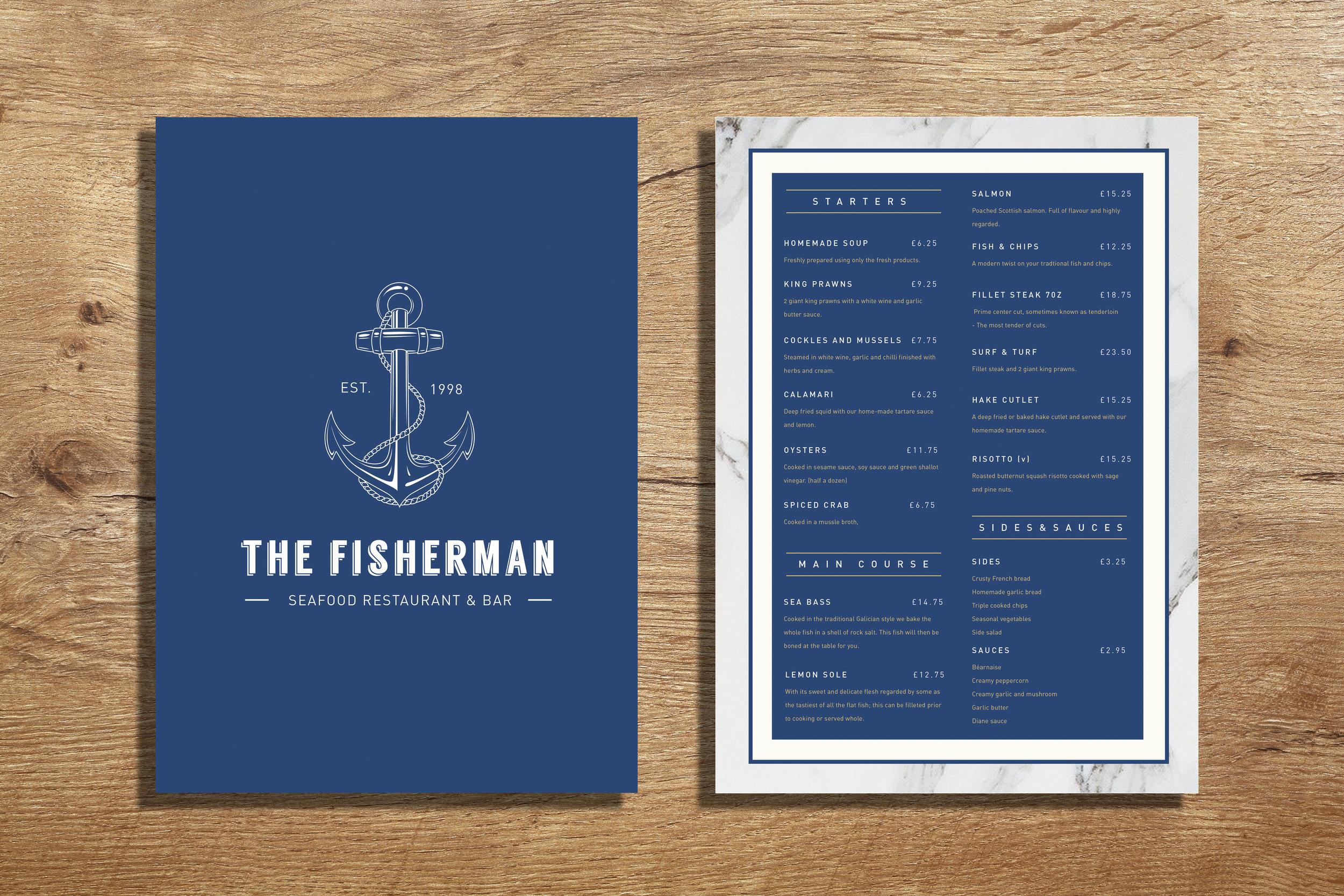 seafood menu branding