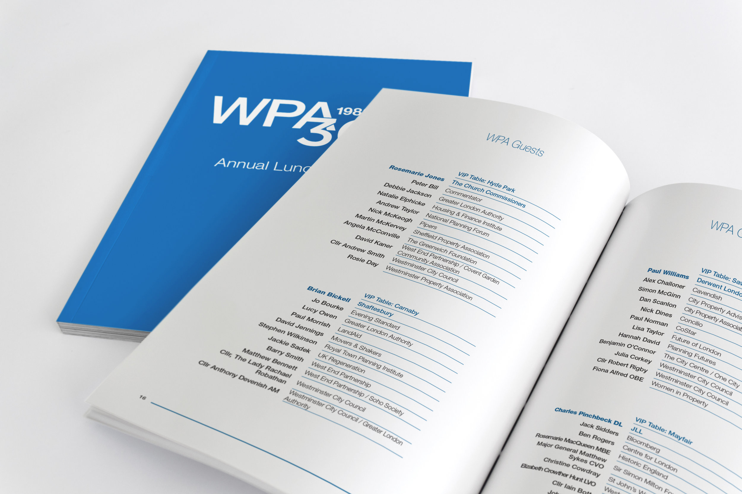 WPA Annual Lunch 2018 Brochure Insert Table