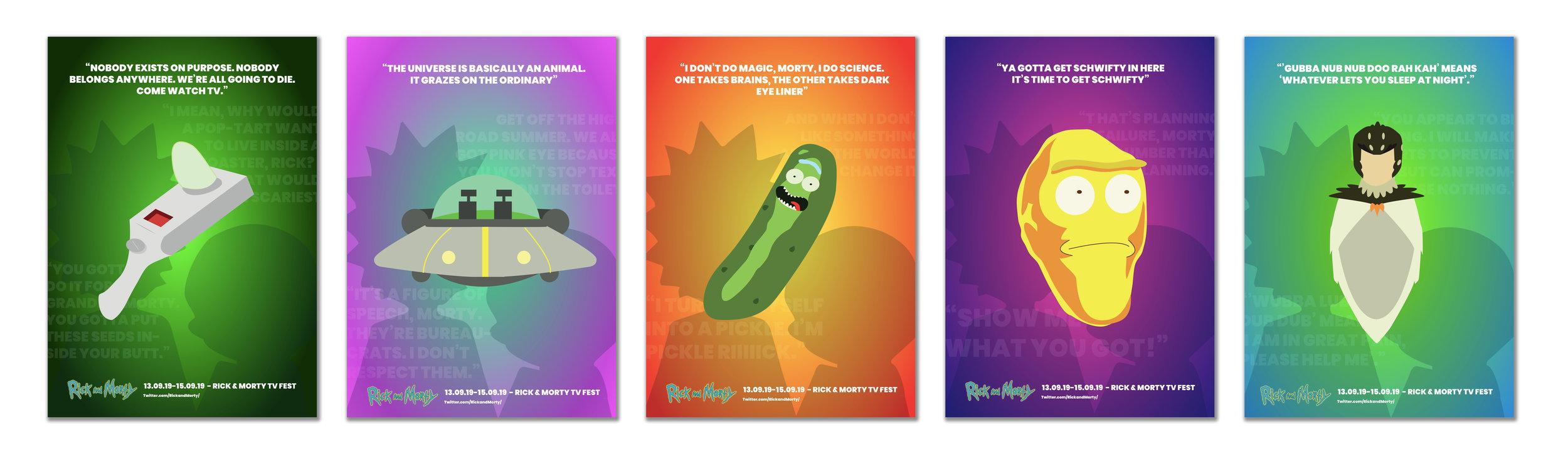 Rick and Morty Minimal Poster Series