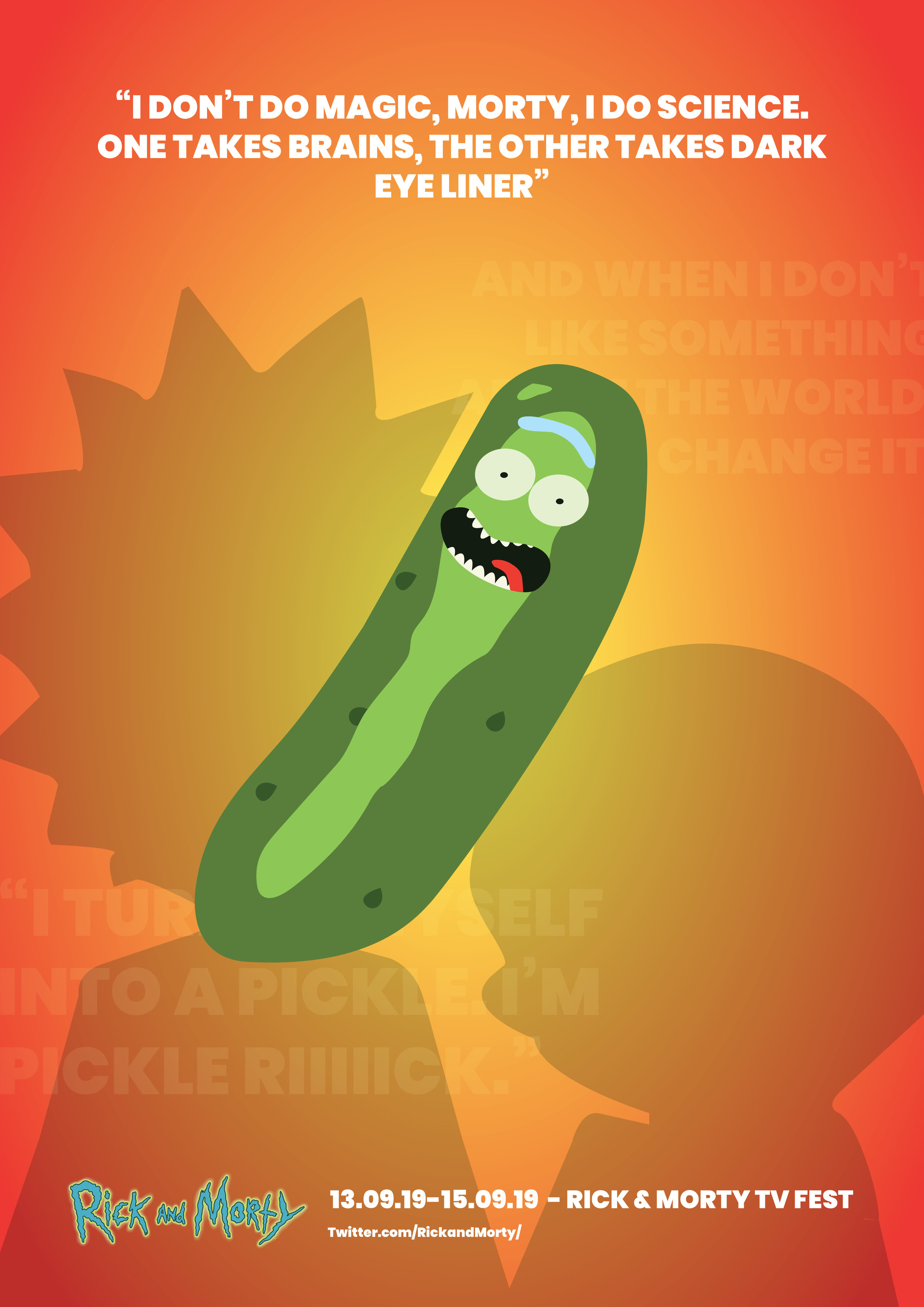 Rick and morty pickle rick poster