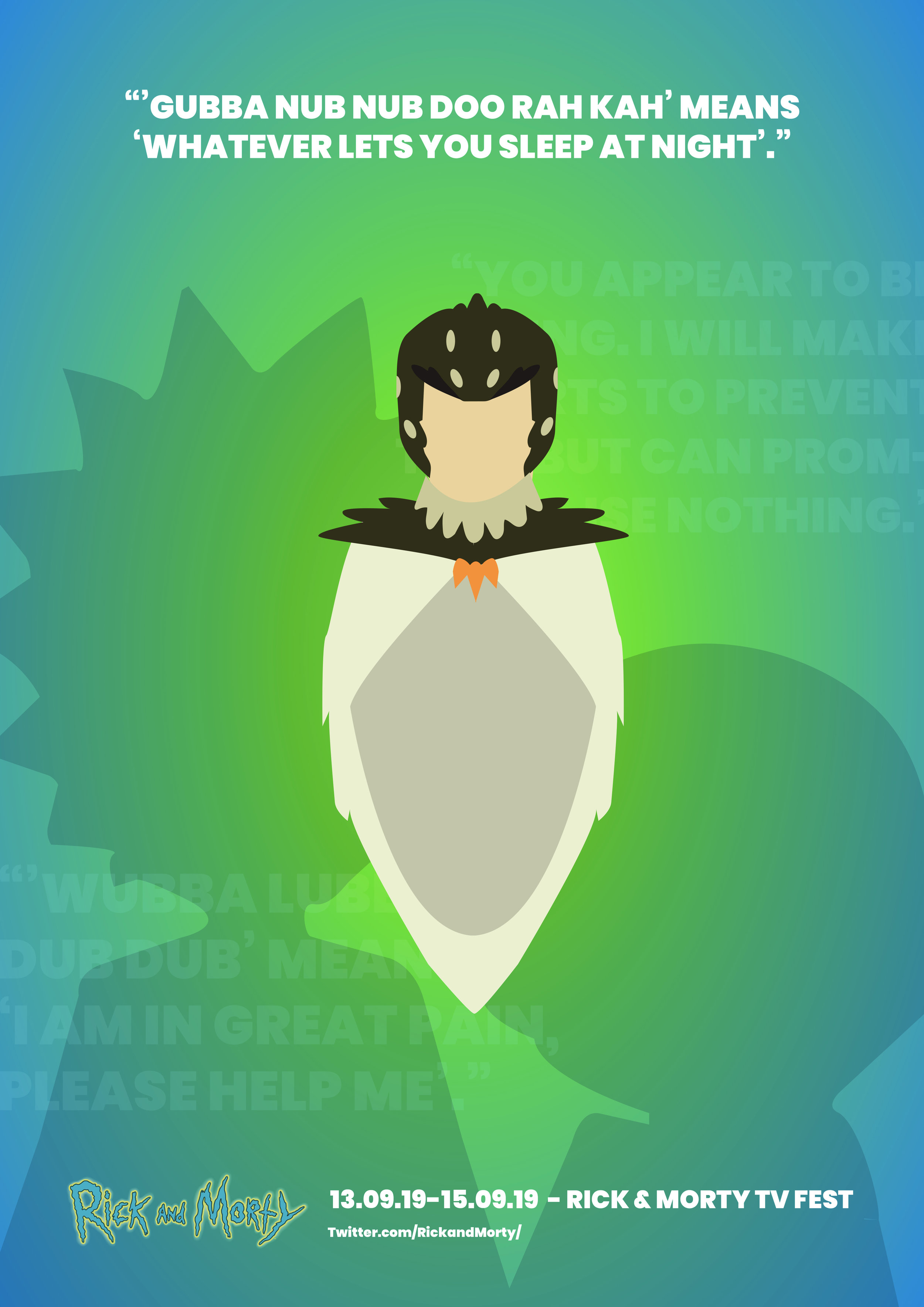 Rick and Morty Minimal Poster bird person
