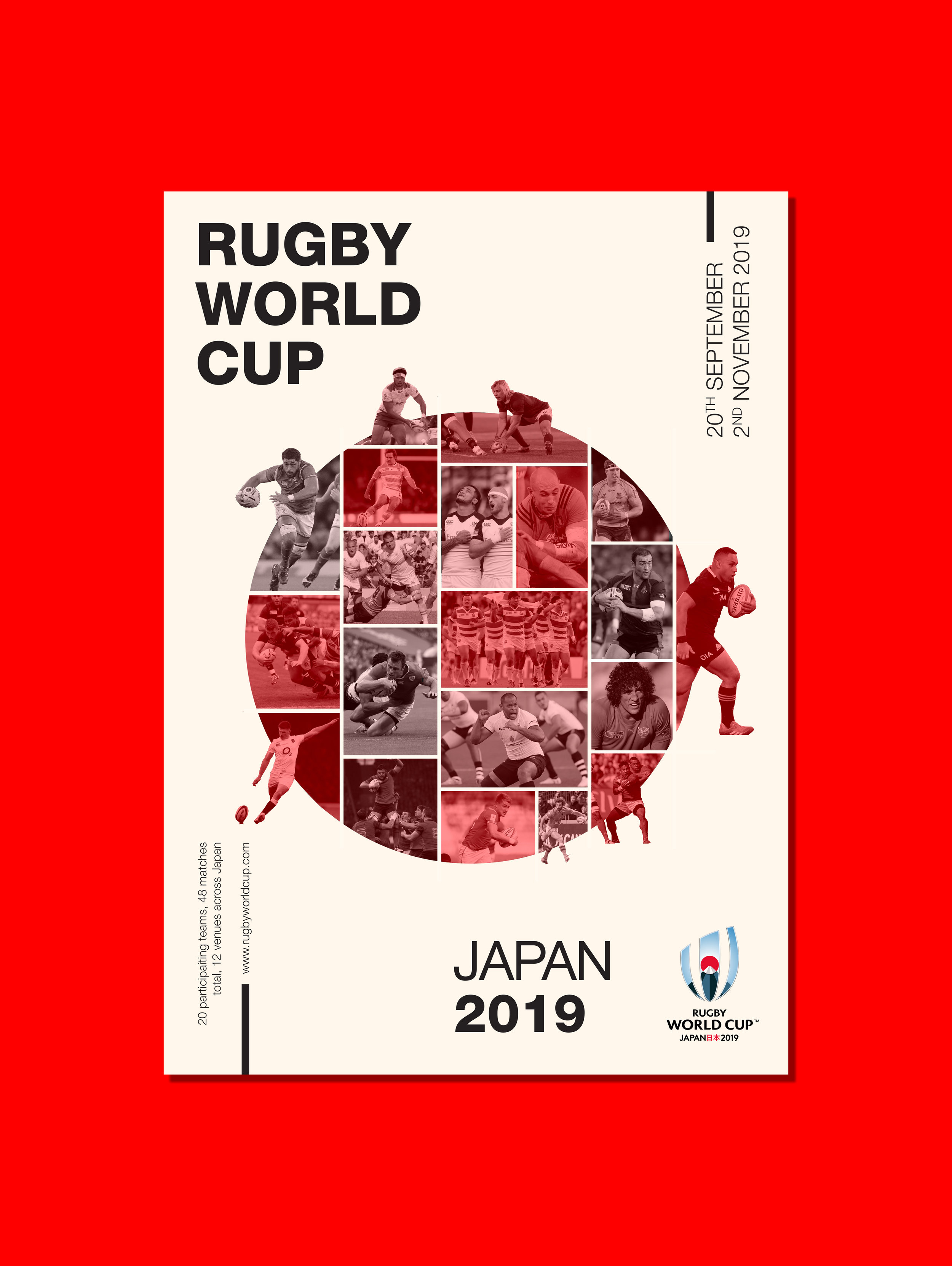 Rugby World Cup 2019 Poster Design