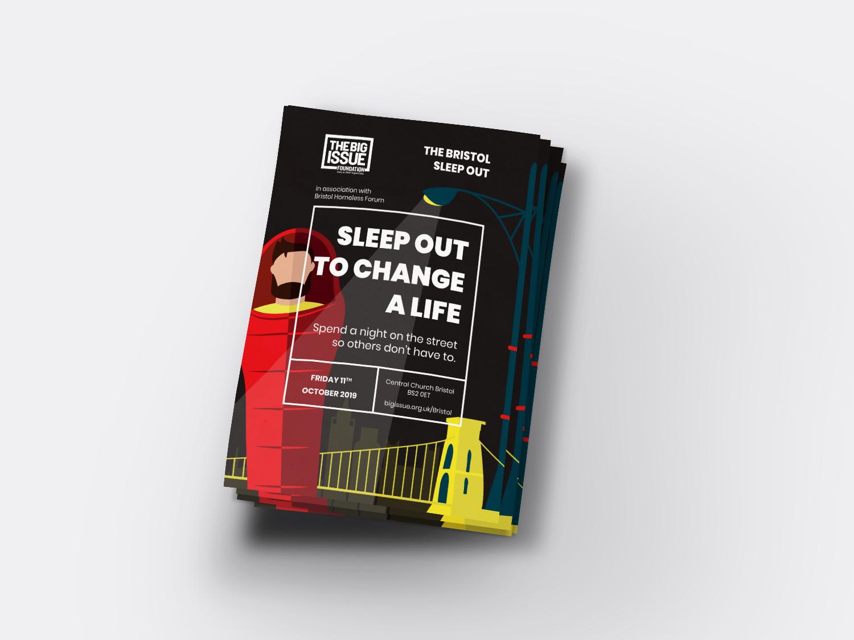 Bristol Sleep Out 2019 Flyer Design