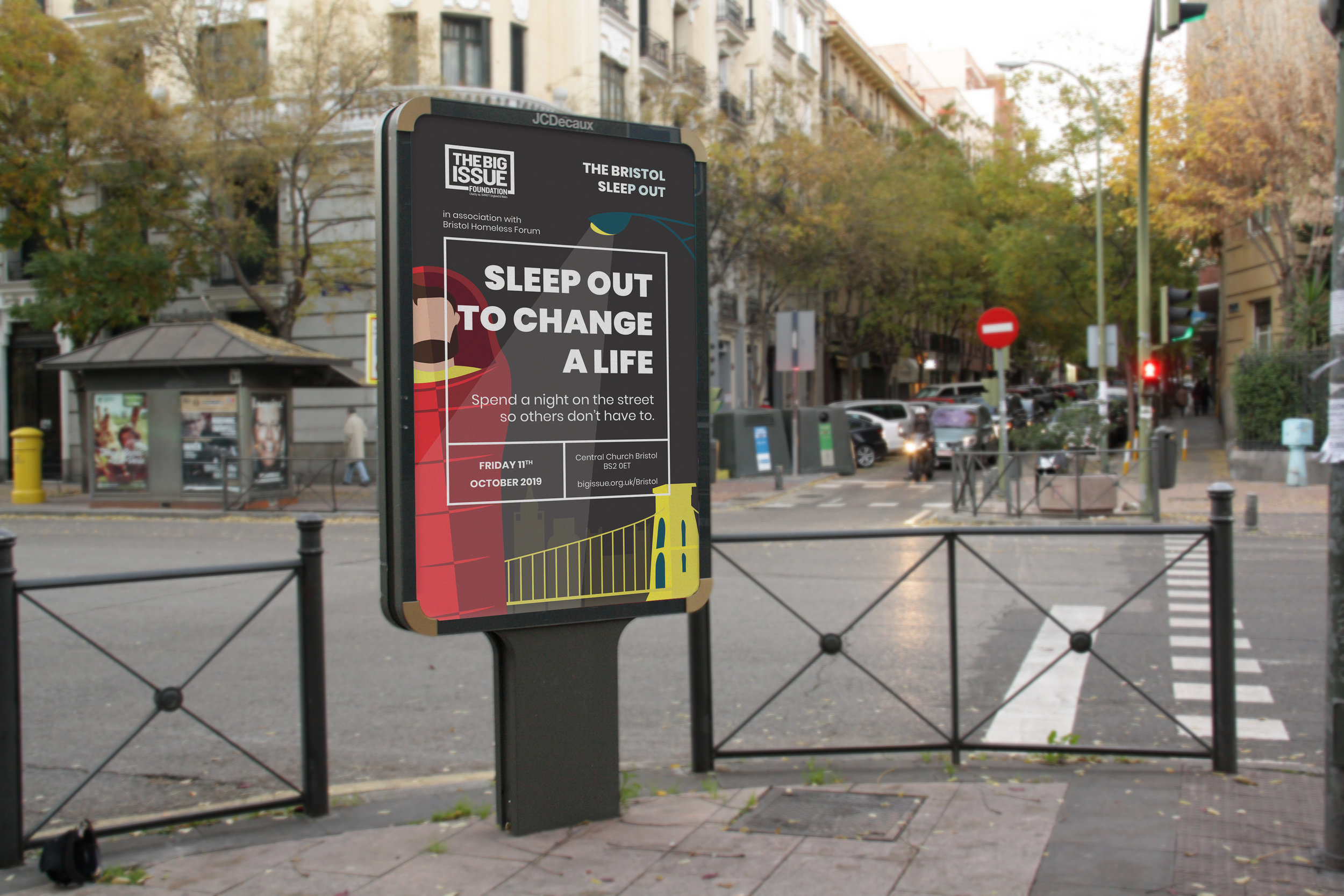 Bristol Sleep Out 2019 Poster Design City