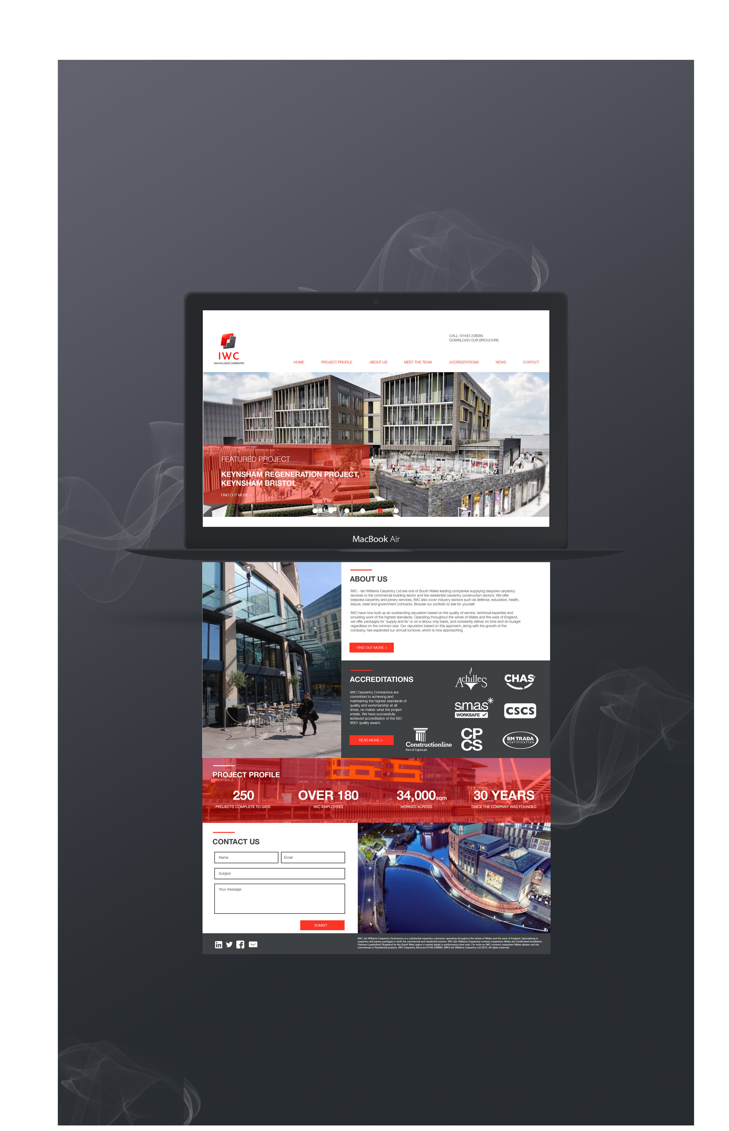 corporate construction company website design