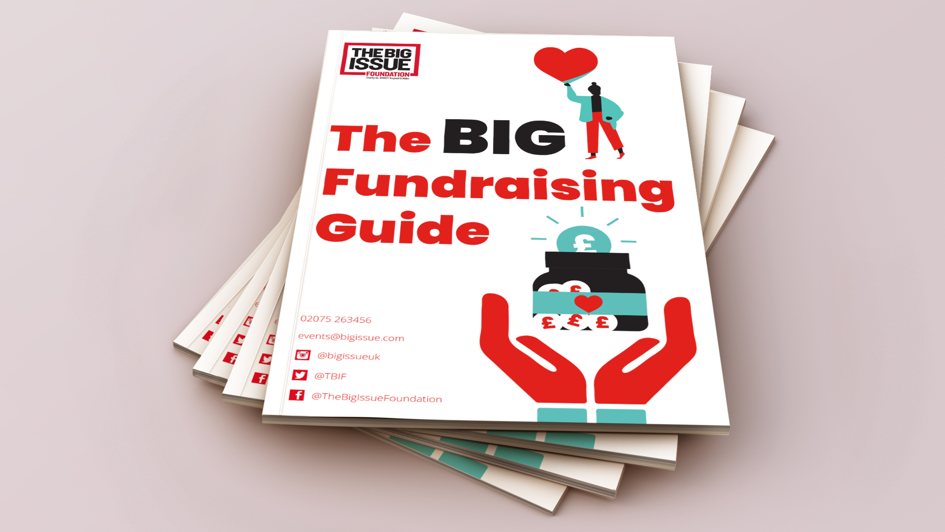 The Big Issue Fundraising Guide Design