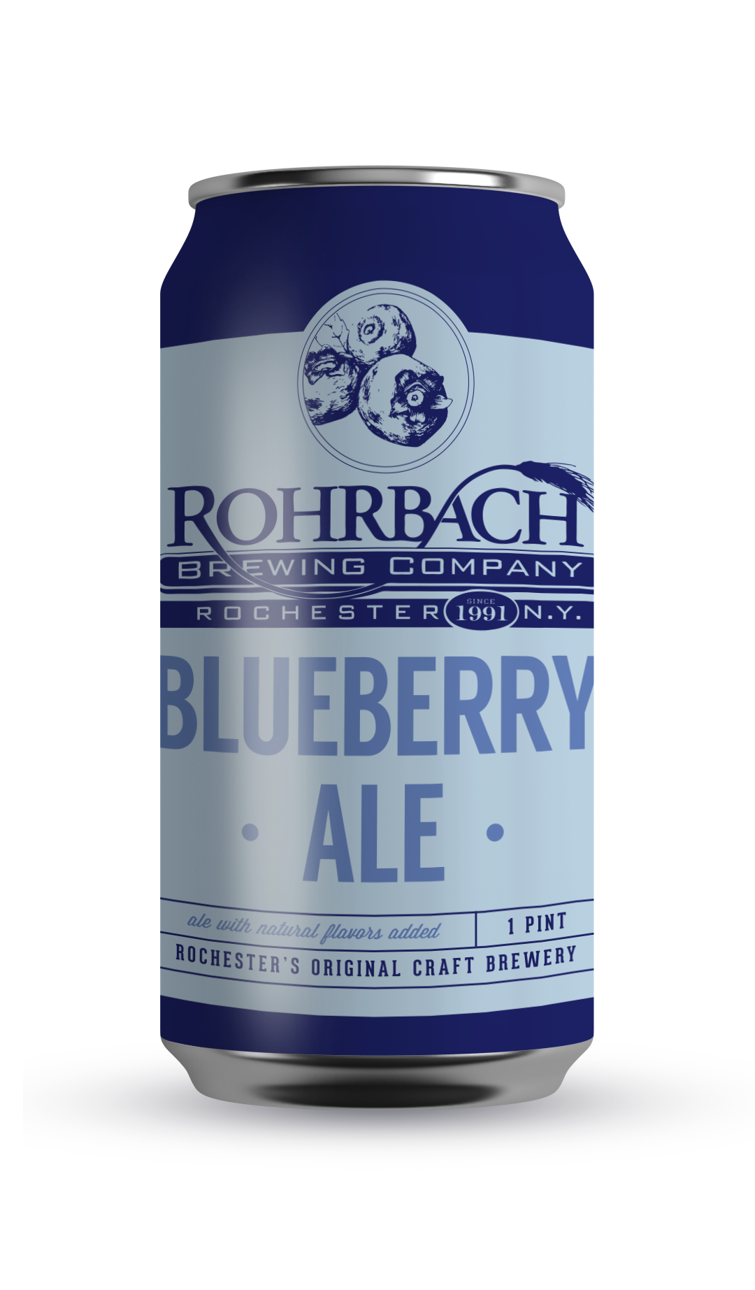 BLUEBERRY ALE  A blonde ale with subtle blueberry flavor added, crisp and clean with a noticeable hop presence.  ABV 4.5% | IBU 14 | SRM 2