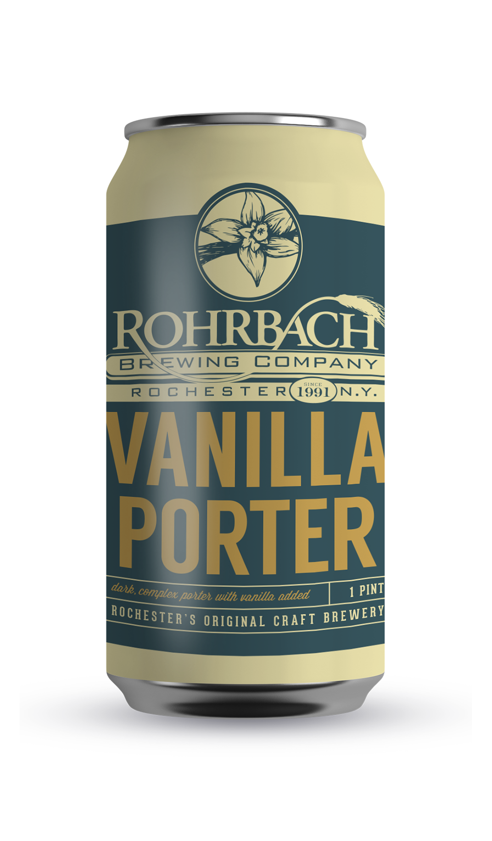 VANILLA PORTER  A rich, complex English-style porter brewed with a variety of malt: chocolate, caramel, black, and roasted barley. Authentic vanilla is added after fermentation which gives the beer yet another layer of complexity.  ABV 5.9% | IBU 23 | SRM 36