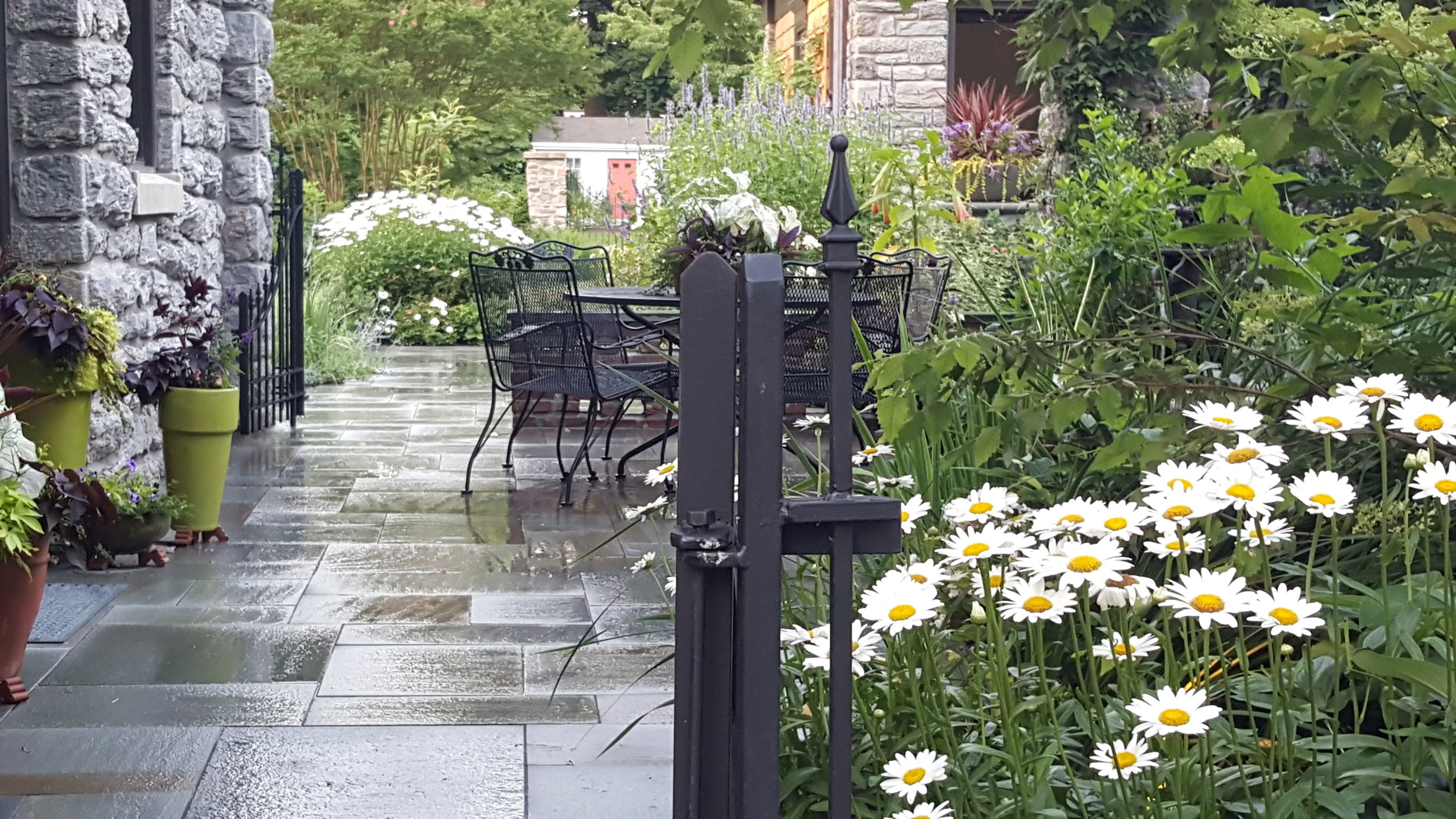 Design   Philadelphia Gardens has the sharpest landscape architects in the city. We provide expert insight and design knowledge to help make your yard, regardless of size, a tranquil scene of native plants and animals that you look forward to seeing every day.