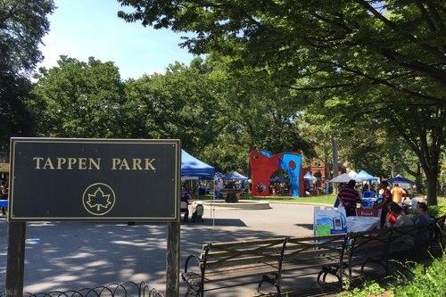 Tappen Park - Tappen Park, located in the heart of Stapleton, is a former village center and one of the oldest parks in the borough. It is named after World War I veteran James Tappen.Bay Street, Staten Island, NY 10304nycgovparks.org/parks/tappen-park