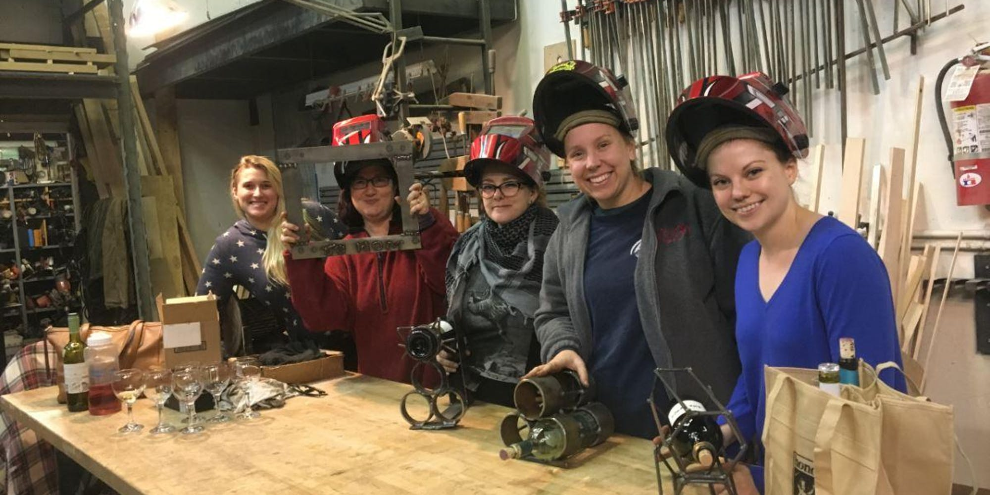 SI MakerSpace - Women Welding Wine.jpg