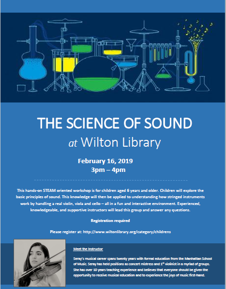 The Science of Sound at Wilton Library