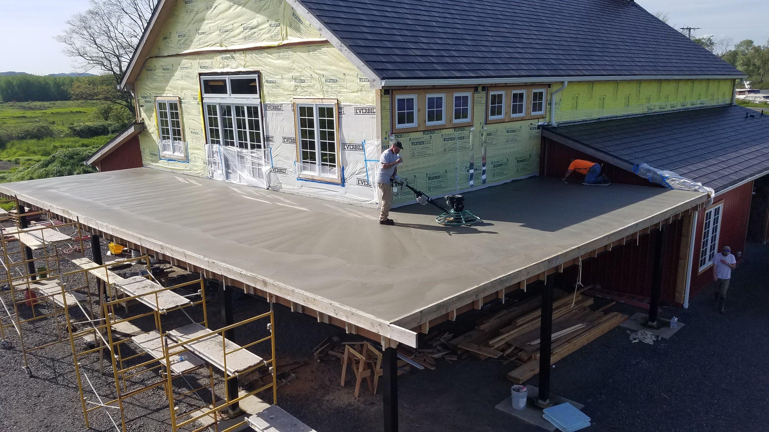 Custom Building Concrete Deck