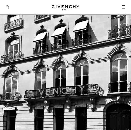 Givenchy. A new ecommerce site for the French fashion house -