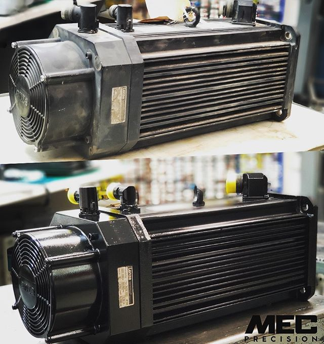 Avant-Après LENZE MDFKARS100-22 réfection complète | Before-After fully rebuild electric motor. #spindlerepair #rebuildstronger #mecprecision #electricmotor #repairprocess #precisionisourbusiness