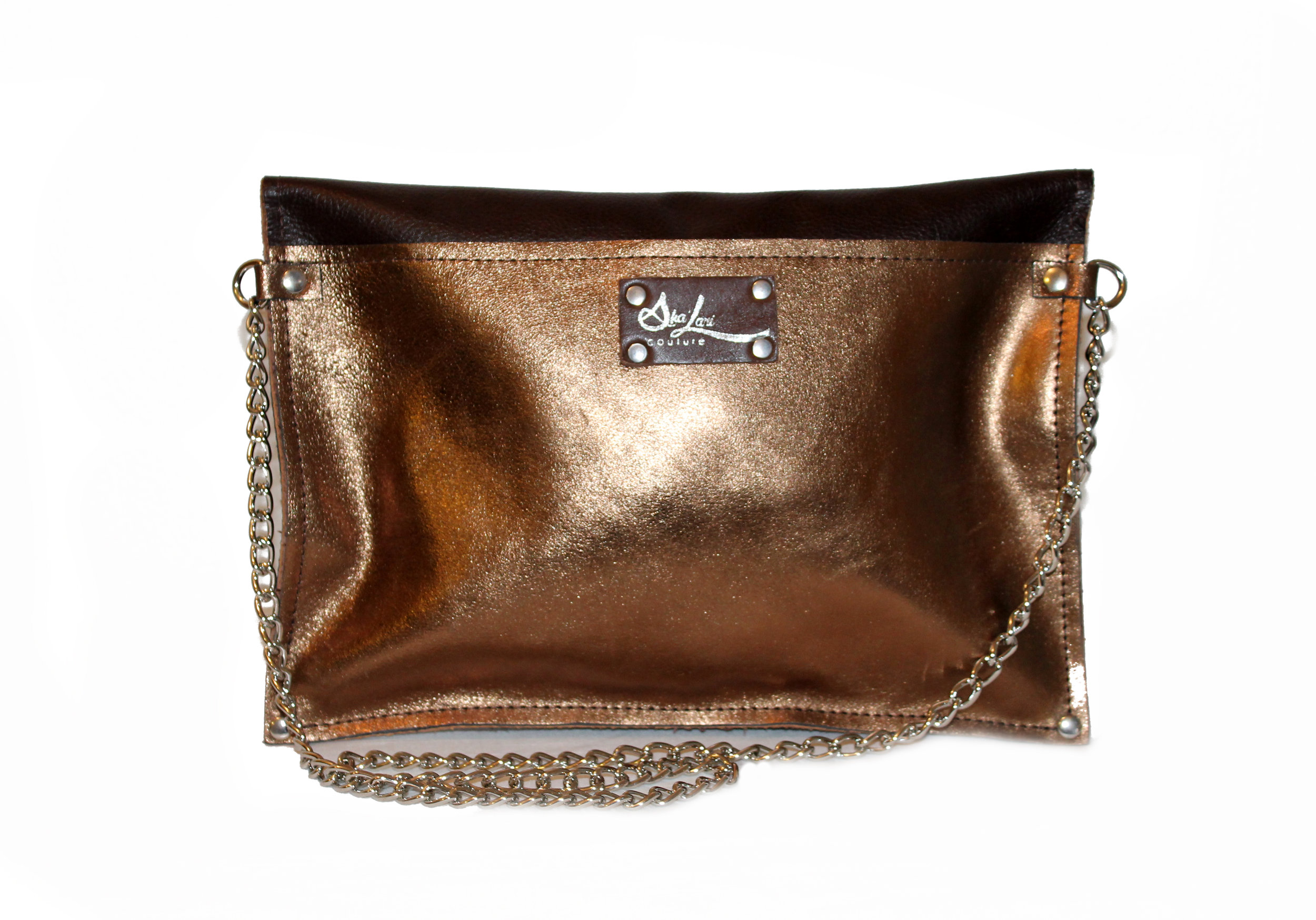 Gold and Brown Foldover Clutch.jpg