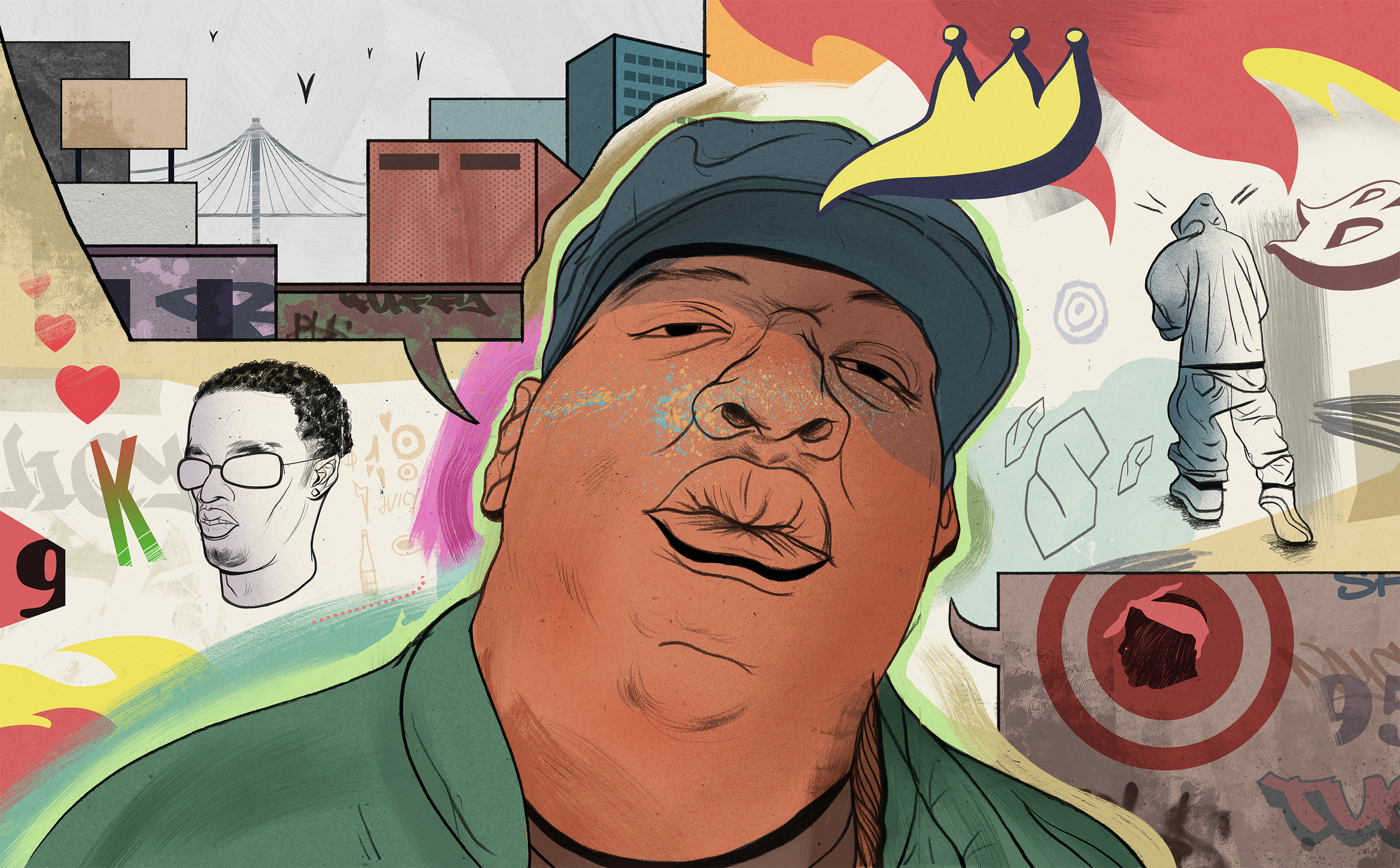 Biggie   Portraiture  From a series around 90s hip hop in Brooklyn