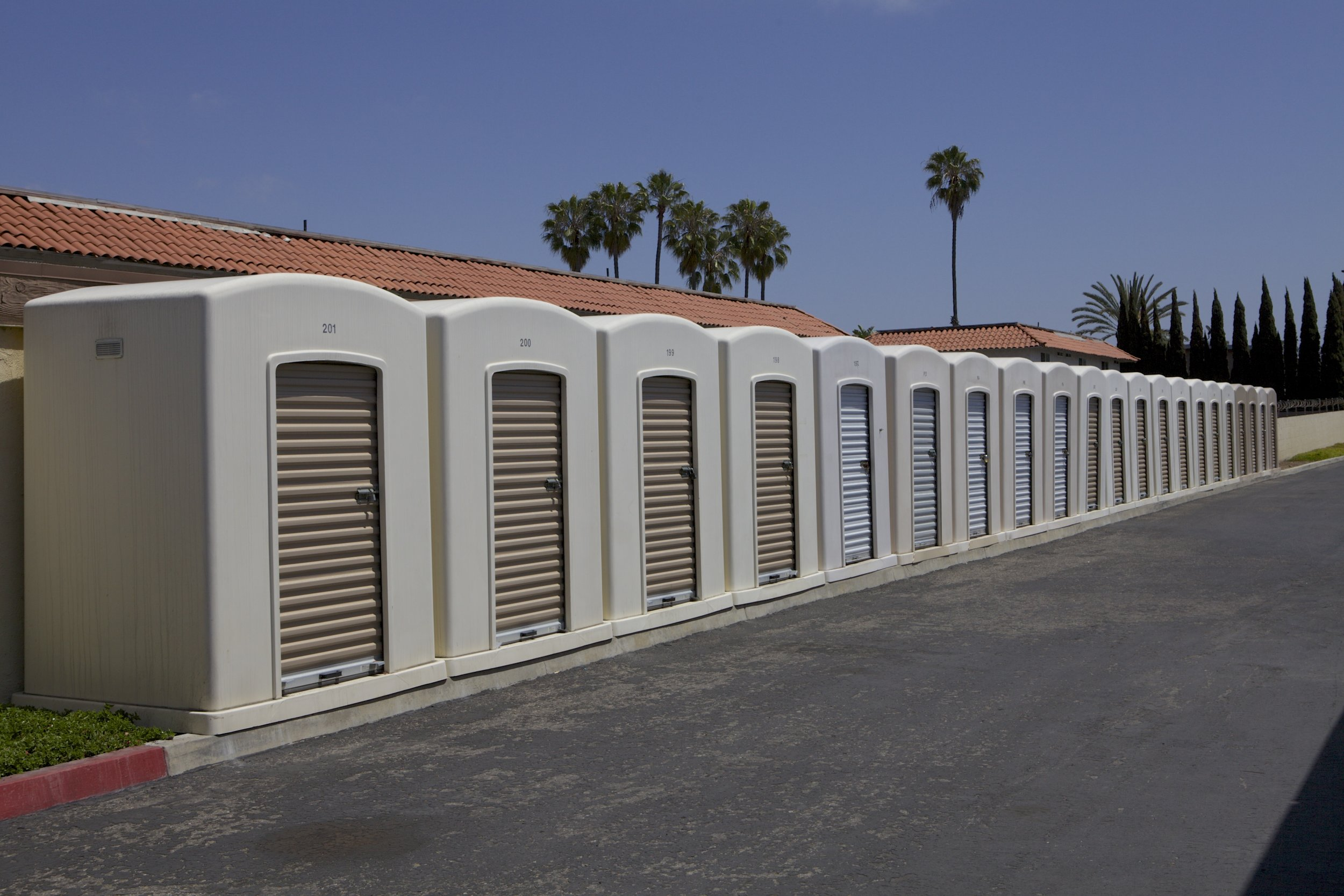 This self storage facility instantly turned a planter into income. No building permits. No construction delays. No headaches.