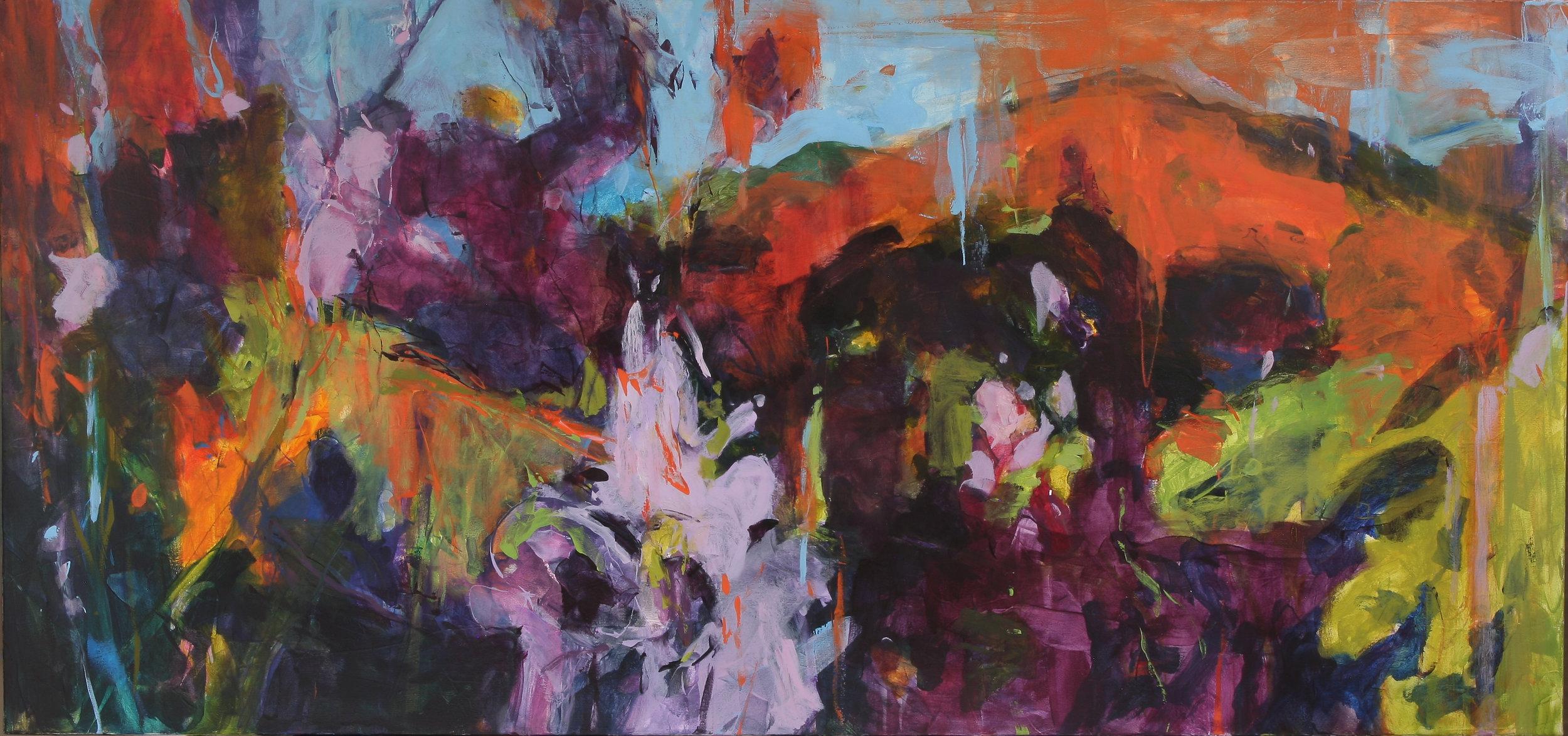 Wild Approach I 2017 34x72 oil on canvas