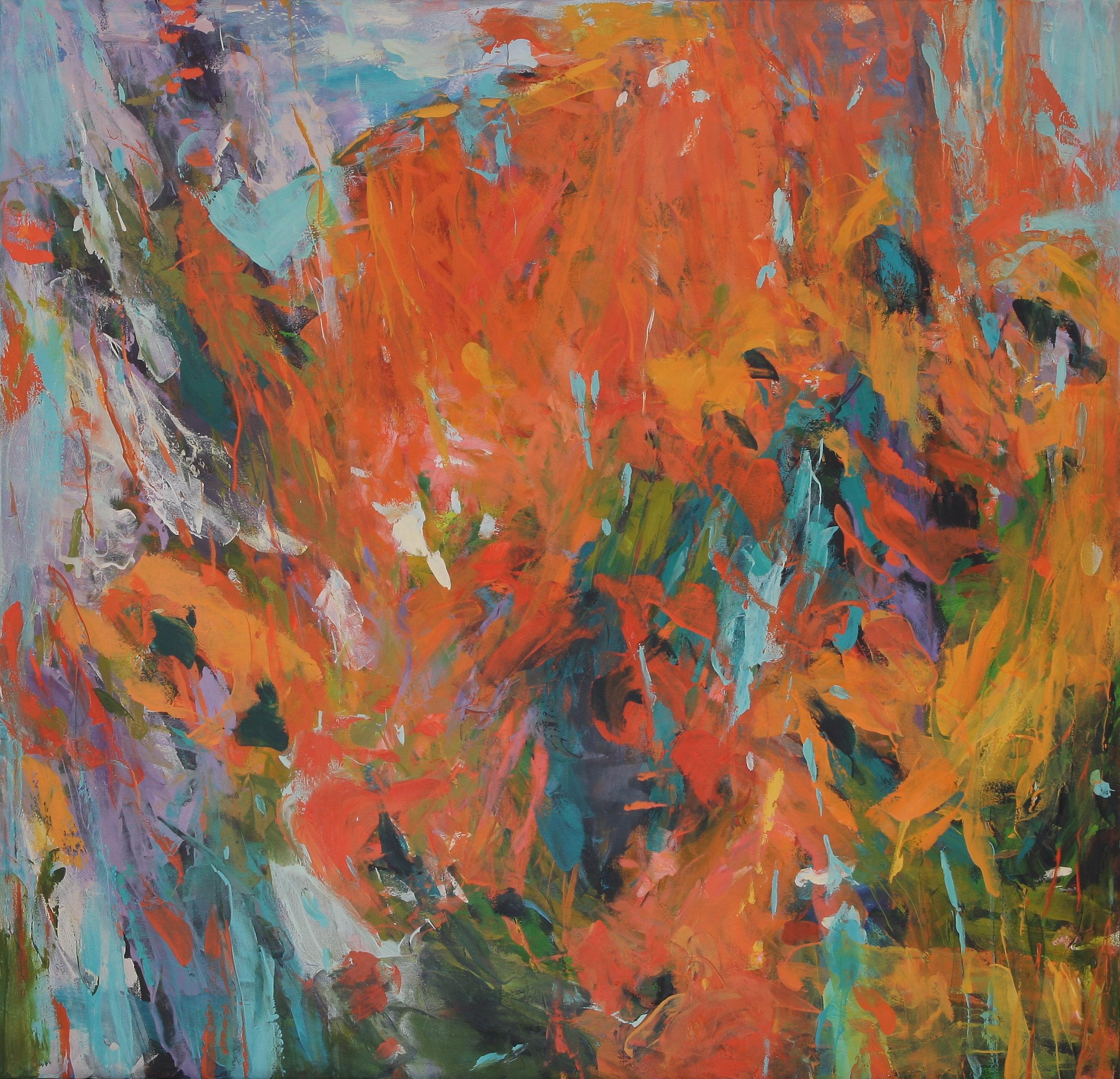 Wild Volunteer 2016 50x52 oil on canvas