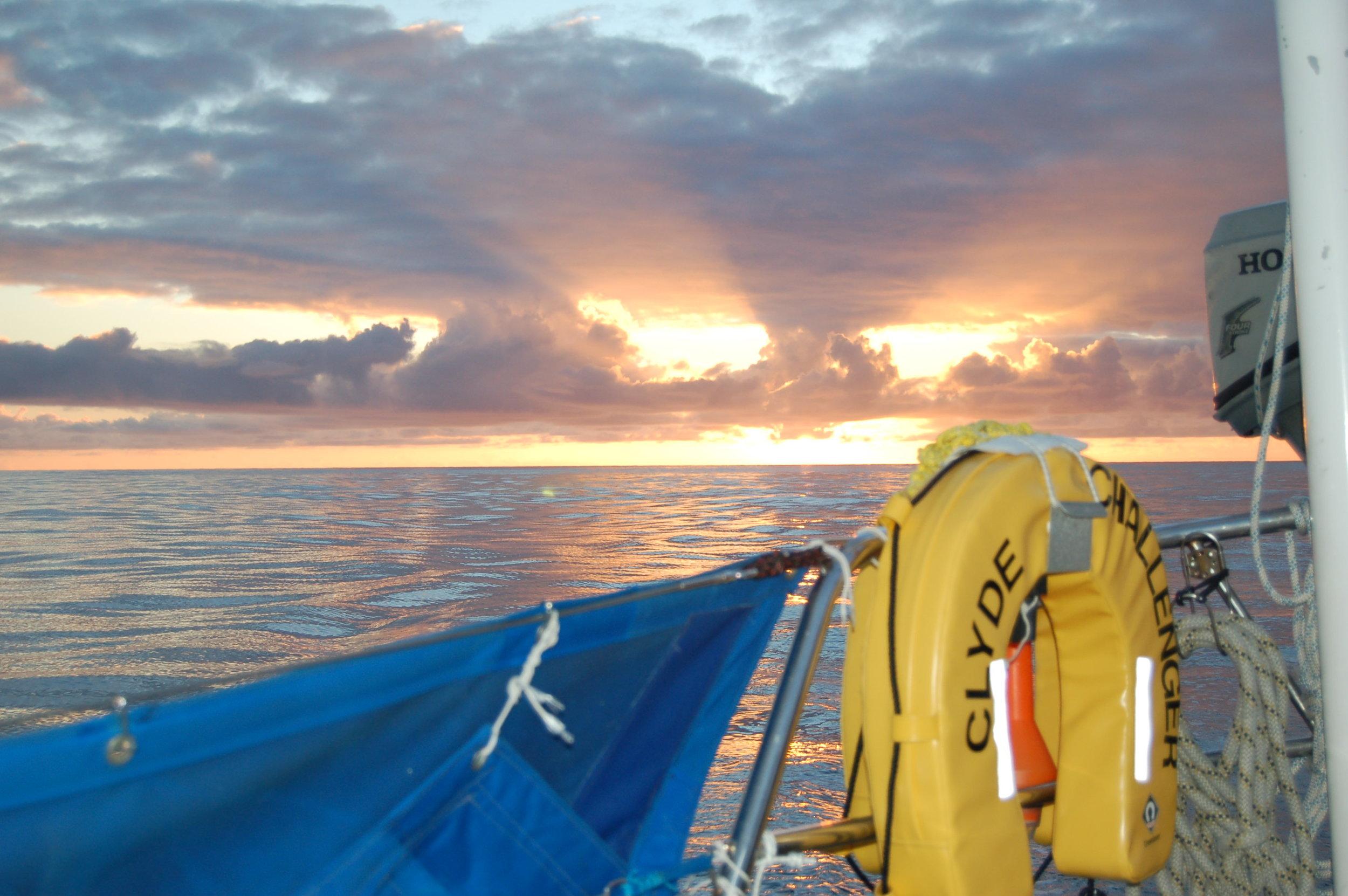 "A ""rare"" north atlantic sunset in flat calm eerie seas!"