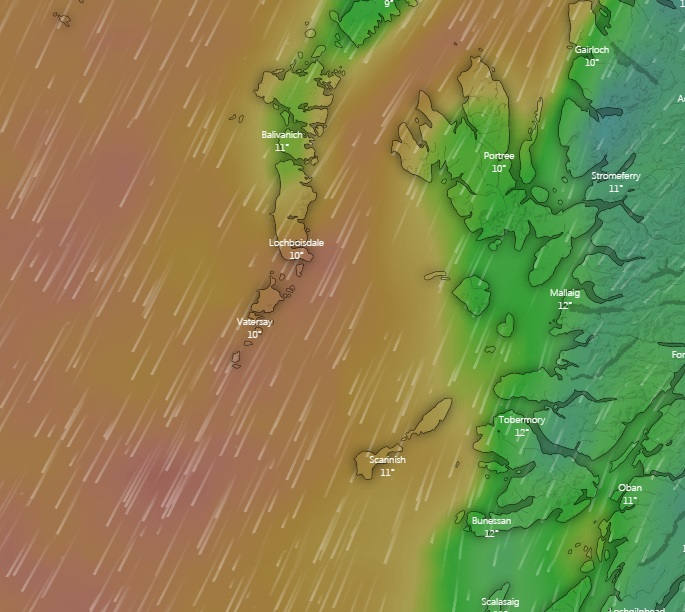 It looks a bit Breezy out west, think we will stay inshore on the 12th!