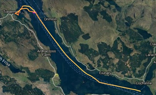 A run up the sound of Mull
