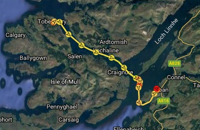 A not very windy trip down the sound of Mull