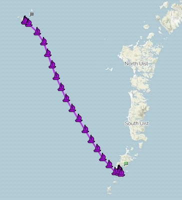 Favourable winds aid our speedy sail to St. Kilda