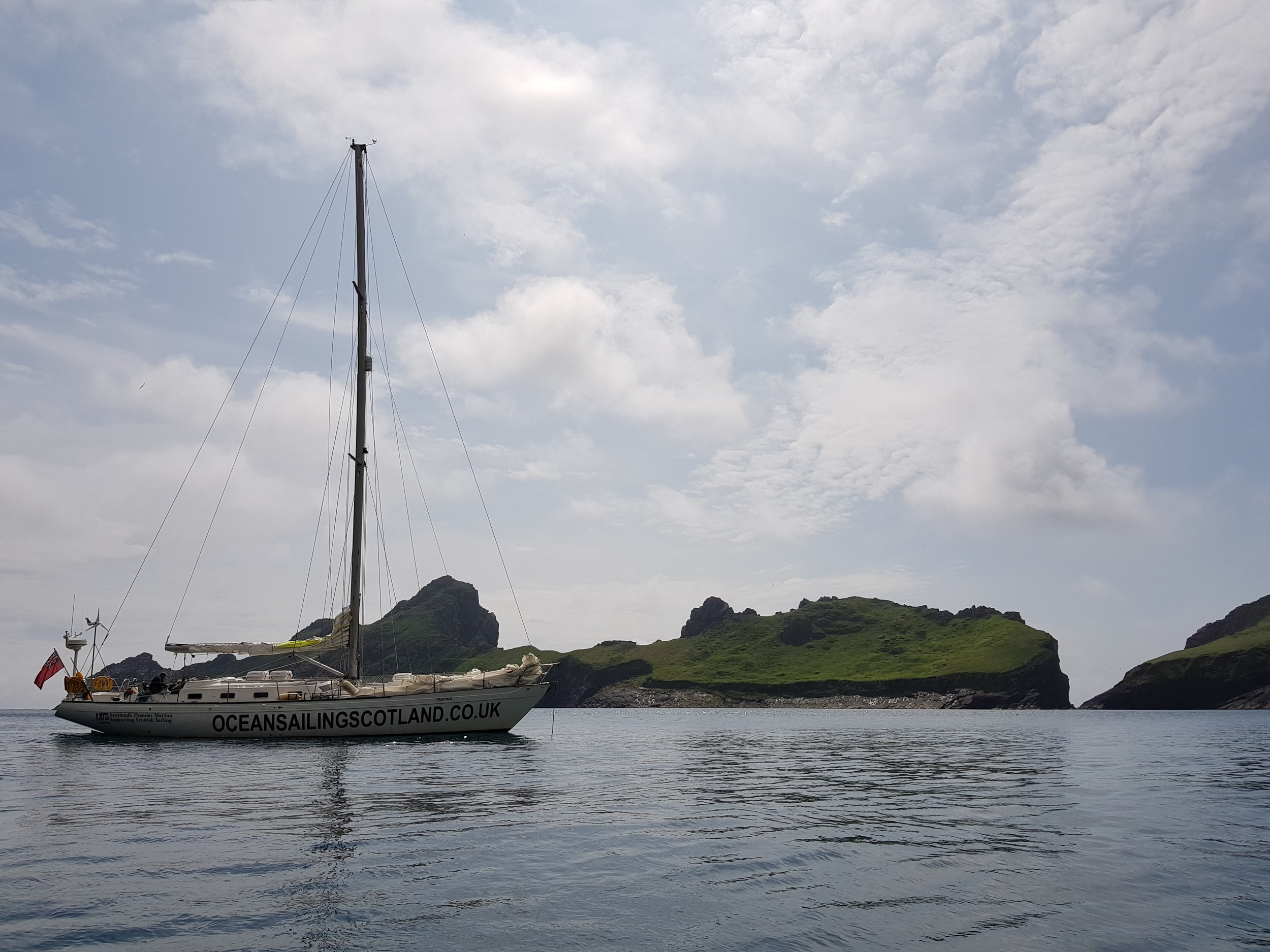 Taeping gets a rest at anchor whilst her crew are ashore at St. Kilda