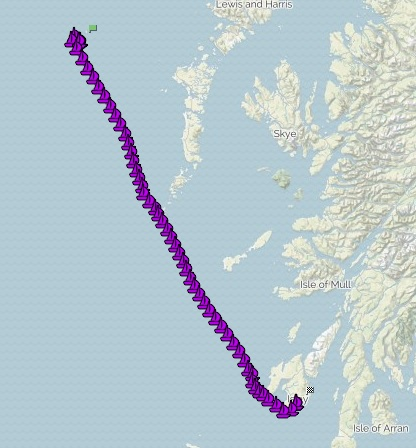 A 26 hour passage saw our team reach the whisky gem of Islay!