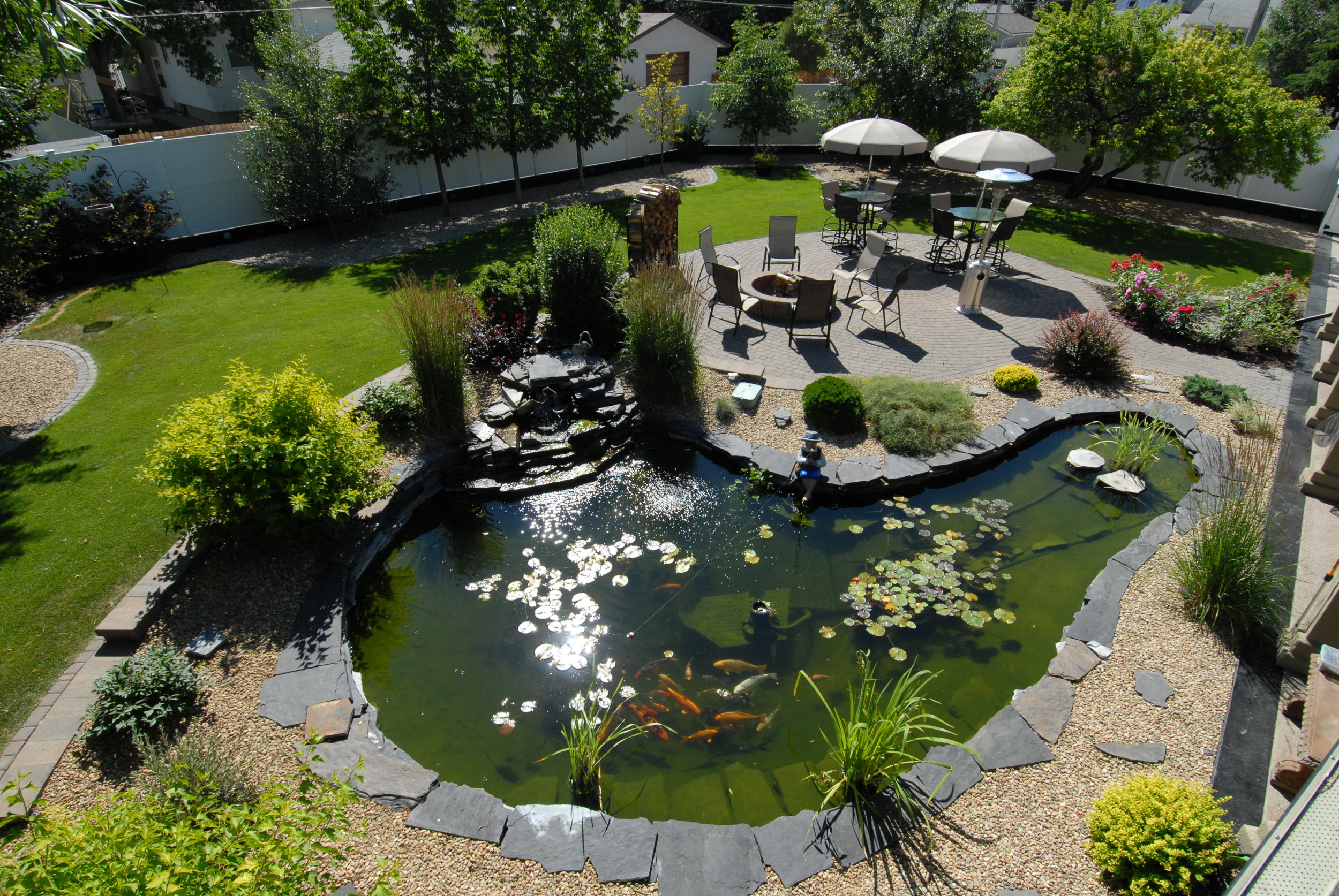 This is the completed project of the above landscape design.