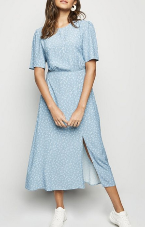 Blue Ditsy Floral Midi Dress, £27.99, New Look