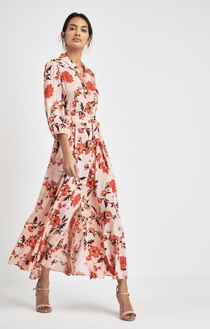 Floral print shirt dress, £45, Next