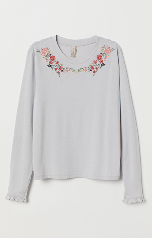 Embroidered top, £12.99, H&M