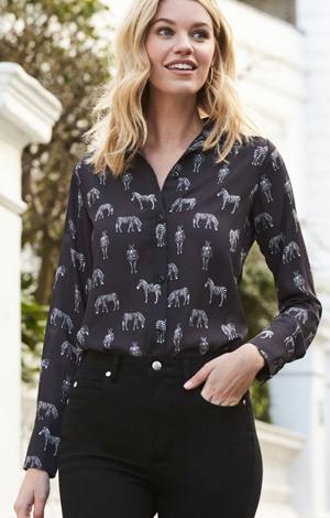 Zebra print shirt, £45