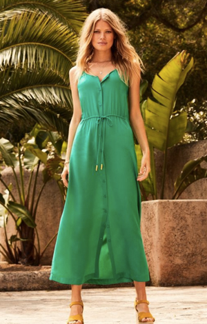Green maxi dress, £59