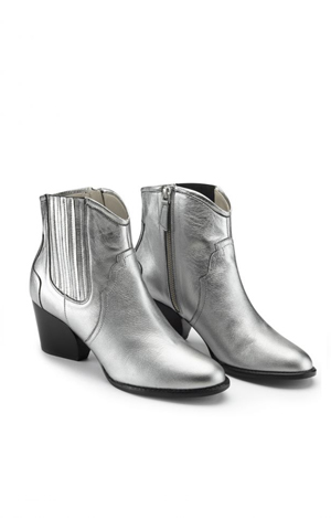 Silver western boot, £110