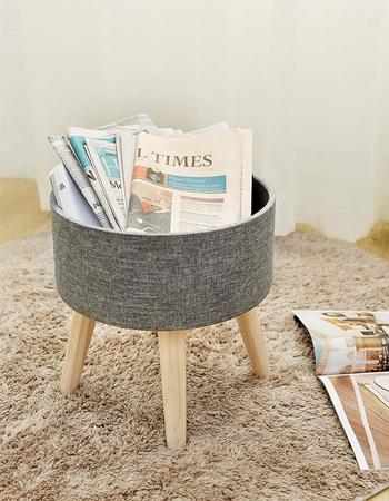 Grey storage foot stool, £32.99, Amazon