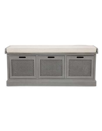 Cane grey storage bench, £149, Dunelm