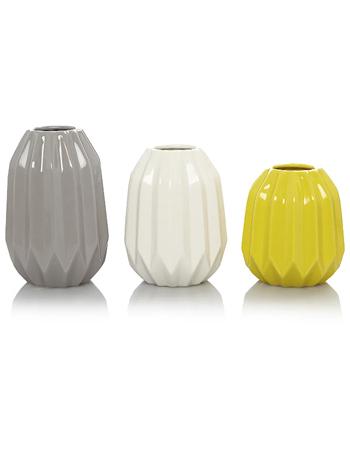 Trio of vases, £14, Asda