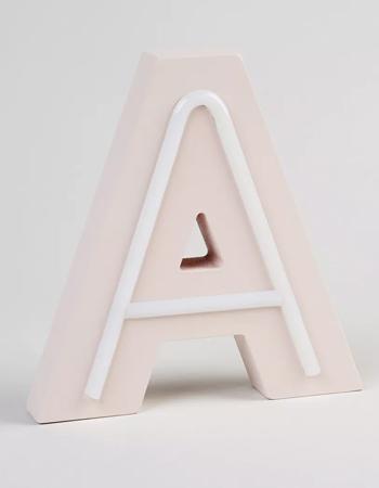 LED Letter, £8, Matalan