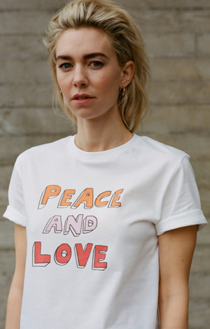 Bella Freud Peace And Love T-shirt, £25, War Child