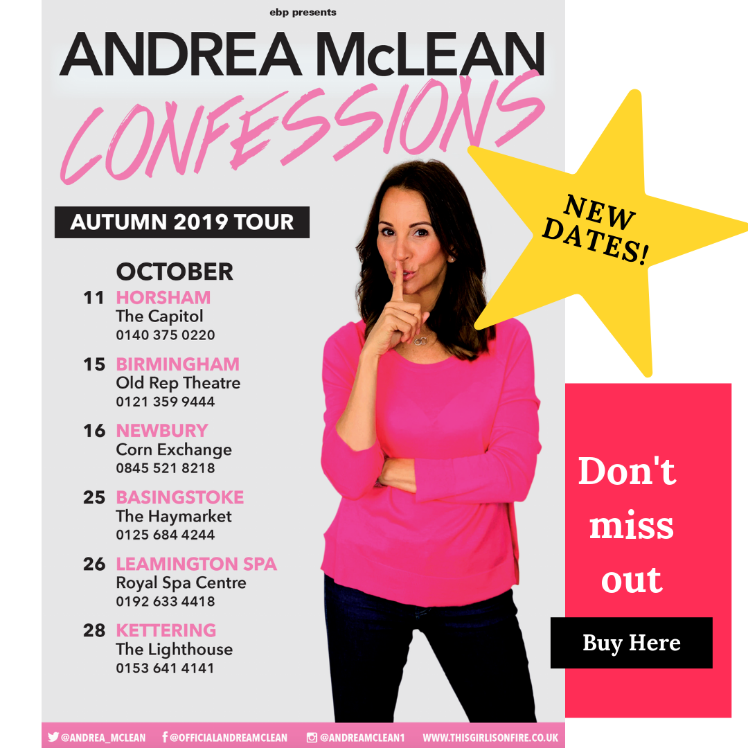 Get tickets to Andrea's first ever theatre tour -