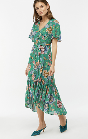 Alba print tea dress, £69, Monsoon