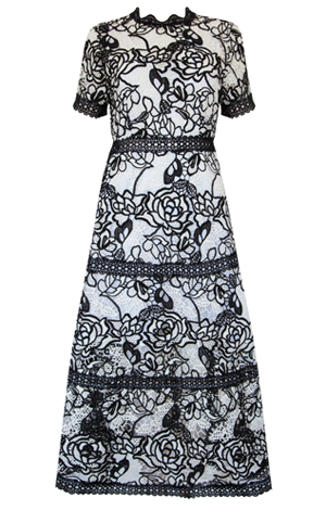 Monochrome lace dress, £111, Very