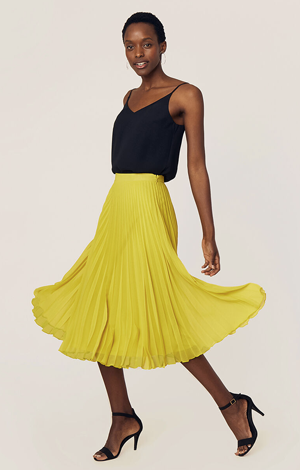 Pleated skirt, £42, Oasis